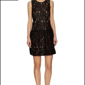 NWT CeCe black low waisted lace dress